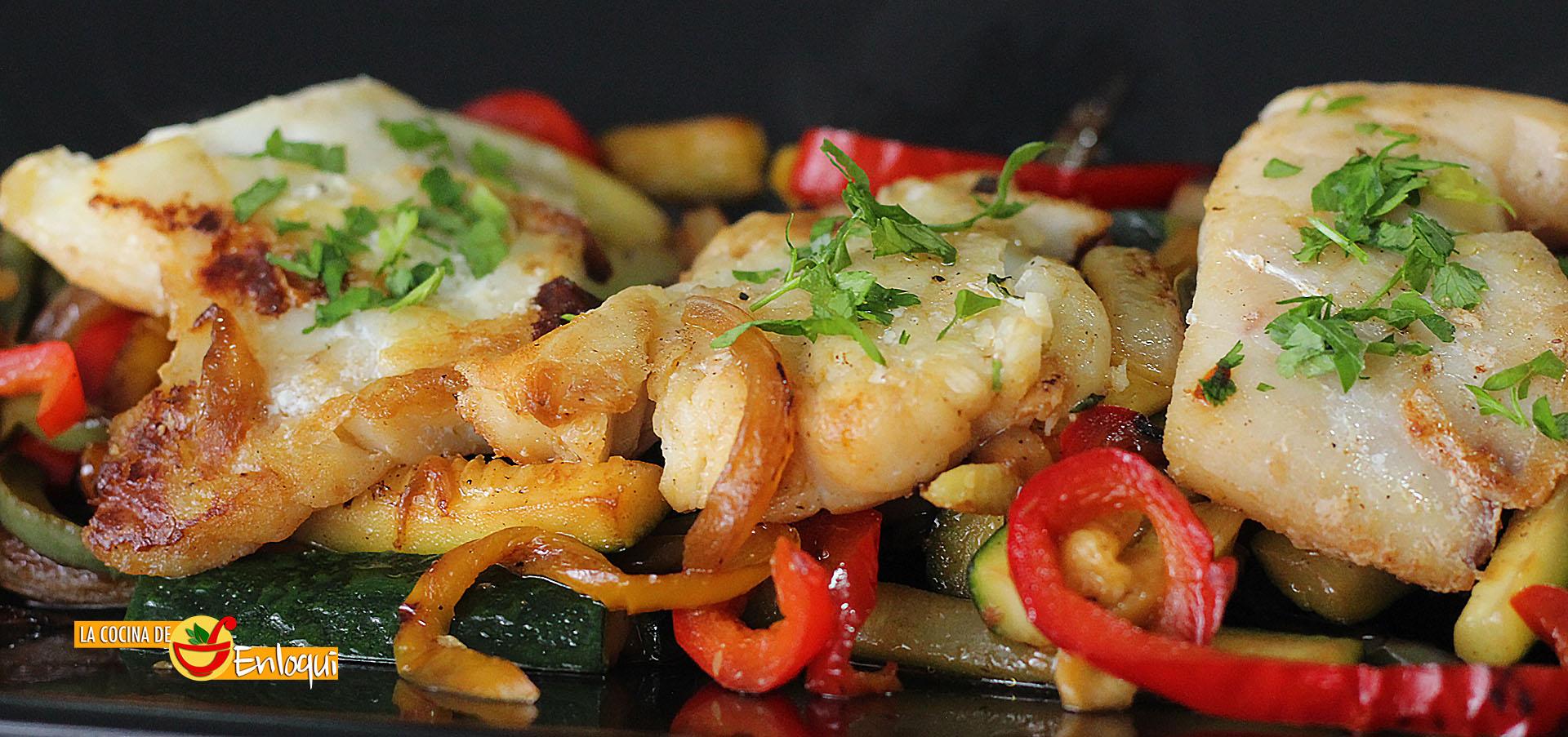 Bacalao con verduras pescados y mariscos la cocina de - Cocinar bacalao congelado ...