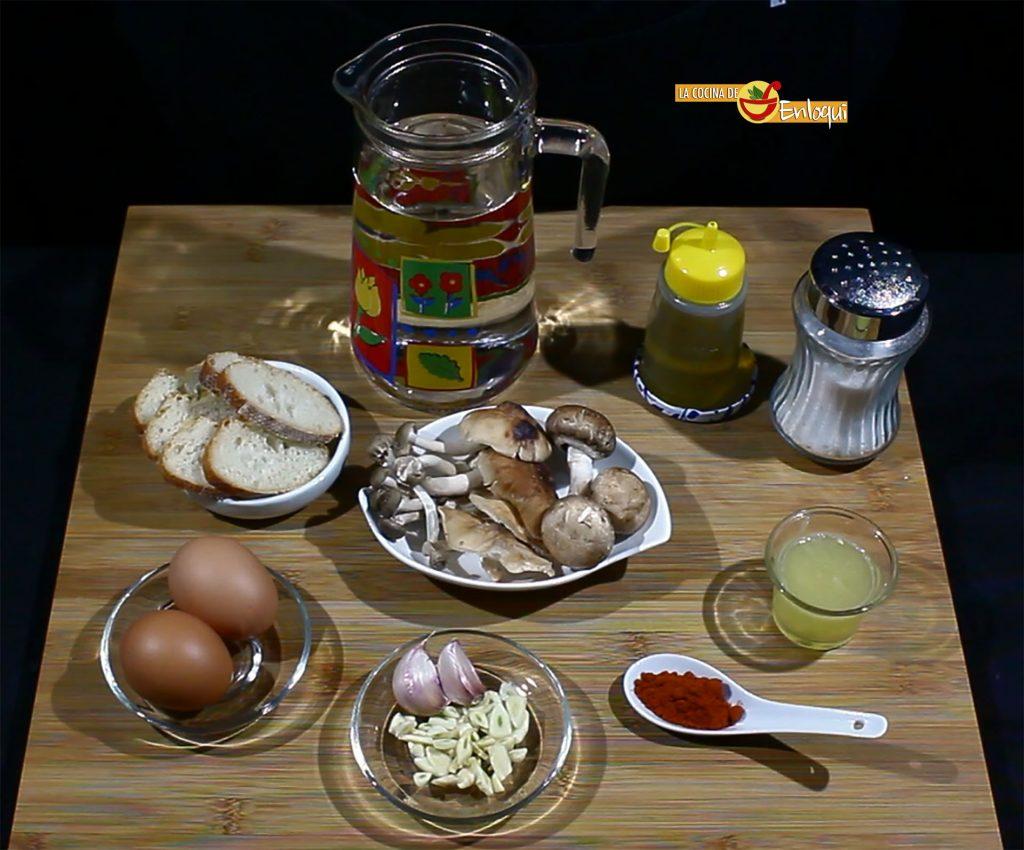 Sopa castellana con setas cocina tradicional espa ola for Cocina tradicional espanola