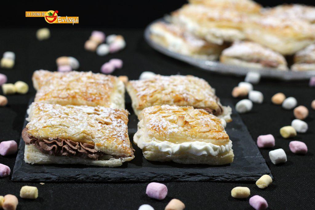 Milhojas de nata y chocolate f cil y r pido la cocina for Cocina facil y rapido de preparar